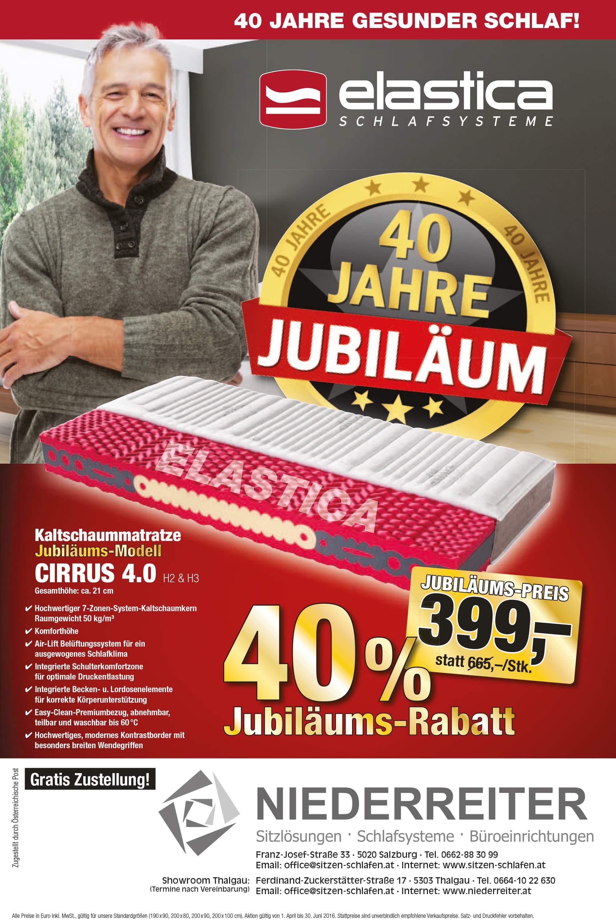 Niederreiter - elastica - 40 JAHRE JUBILÄUM